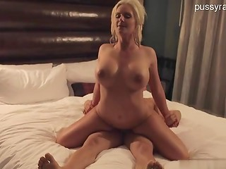 Wealthy guy paid a lot of money busty blonde babe to penetrate her tasty hole
