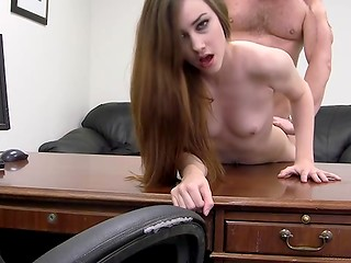 So cute and gorgeous babe is a dream secretary of any boss in the universe, but today she came on the porn casting