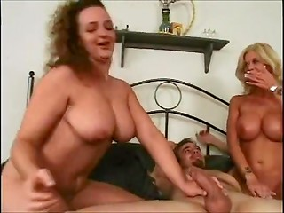 Two appetizing ladies didn't lose their time when they saw this erected cock