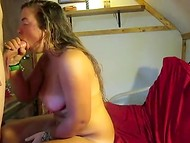 Big-breasted girl surely knows how to make her lovely boyfriend entirely satisfied 10