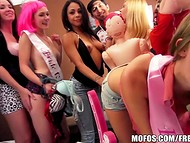Hot party with a couple of guys and a bunch of perverted girls turns into a massive orgy