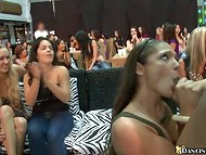 Nice stripper receives first-class blowjob from different ladies who want to suck his gigantic dick