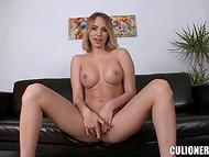 Молодая блондинка с офигительной внешностью пробуется на роль порно актрисы