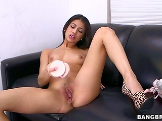 Super cute Latina babe came to the casting to realize her dreams and demonstrate real passion