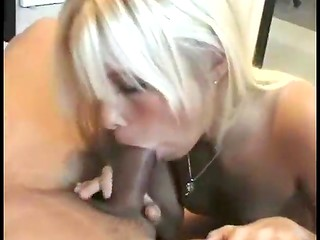 Stunning young girlie works hard with her skillful mouth