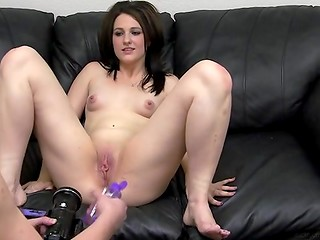 Bewitching brunette doll was deeply analyzed by horny porn agent in the casting