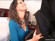 Glamorous dona with magnificent figure loves to suck black guy's huge tool 4