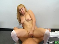 Excellent blonde schoolgirl gets nicely pounded by her teacher after lessons