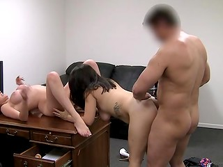 Cunning producer managed to grab in his possession bodies of two awesome honeys at the casting