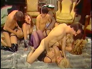Randy couples fucking all together on the floor