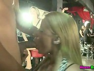 Skillful stripper receives many first-class blowjobs by marvelous chicks at the hen-party   11
