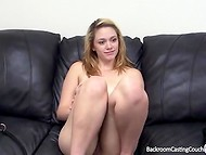 Backroom casting couch: blonde is interested in sexual feels 5