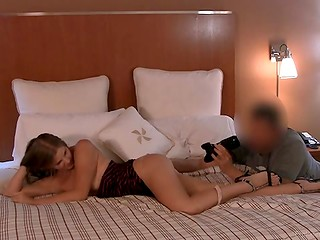 Great amateur sex-tape of young couple having wild action in the hotel room