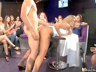 Stripper from the Dancing Bear club doesn't mind that he need to please the crowd of ladies