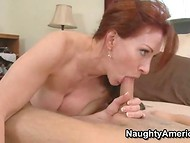 Red-haired MILF likes to have spontaneous sex actions reminding her youth