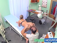 Doctor had great time with blonde patient by filling her pussy with hot cum
