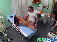 Two naughty doctors in a row fucked their hot patient instead of examining her