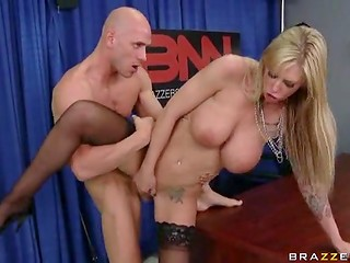 Johnny Sins didn't know that camera broadcasts his sex with a busty meteorologist live