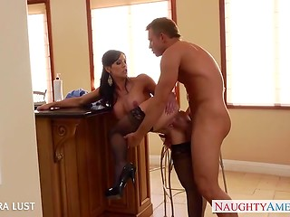Ambitious buddy must demonstrate the power of his dagger to this horny woman
