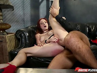 Fascinating redhead mistress Violet Monroe bets her bottom dollar in seduction of such gentlemen