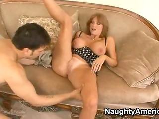 Oral foreplay turns into amazing fucking action with busty MILF pornstar