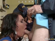 FBI officer bravely fucks mesmerizing woman in front of her guilty husband  6