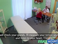 Busty blonde doesn't know that her appointment will end with a flawless fuck 3