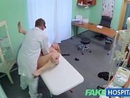 Busty blonde doesn't know that her appointment will end with a flawless fuck 9