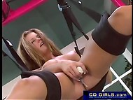 Horny student gets more pleasure playing with a dildo 5