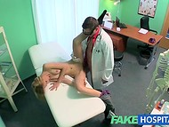 The doctor thoroughly checked patient's pussy satisfying his lecherous ambitions
