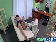 Прелестная рыженькая пациентка получила незабываемый опыт на приёме у врача