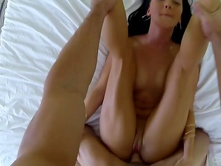 The POV camera captured wonderful sex scene featuring obedient mistress