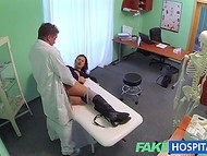Cunning doctor seduces female patient to make love as a medical examination