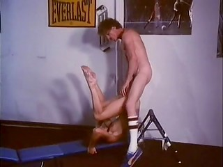Awesome vintage porn video demonstrates how a sportive couple has dirty fun