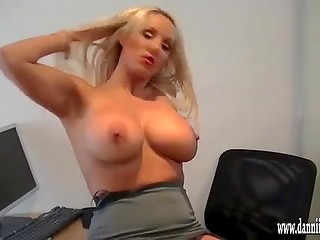 Frolicsome fingers of the incredible dame with big tits were teasing her sexy body
