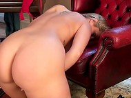 Mesmerizing woman's fingers were doing their sexual job in the luxurious solo scene 10