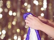 Blonde Playboy cybermodel Chloe Crawford organized a really magic show  10