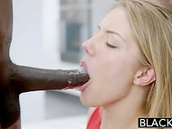 Astonishing blonde Candice Dare has sex with black dudes whenever it's possible   6