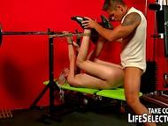 Lewd instructor organized a brutal gymnastic training including rough fucking for his female ward  3