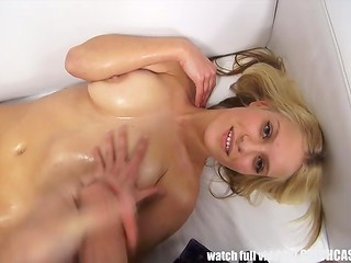 Amateur Czech lass with big natural tits had to sleep with the fake agent to get the role