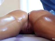 Softhearted dude helps maiden to relax muscles after the intense training and was rewarded with soft sex action right on the massage table 7