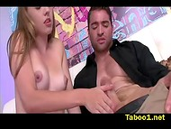 Gal adores when her strong partner cums on her breasts especially after the great handjob